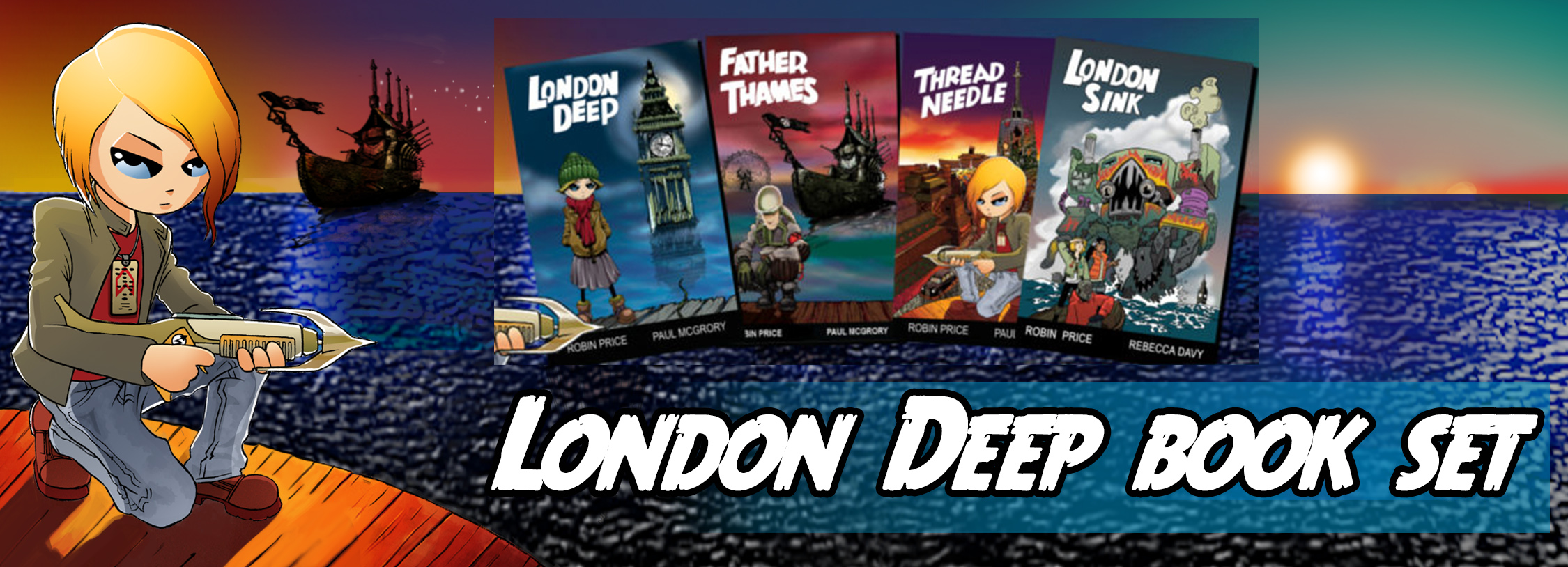 London Deep book set