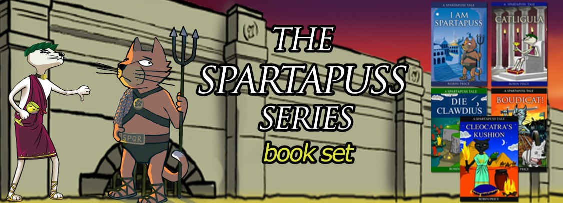 Set of 5 Spartapuss books by Robin Price